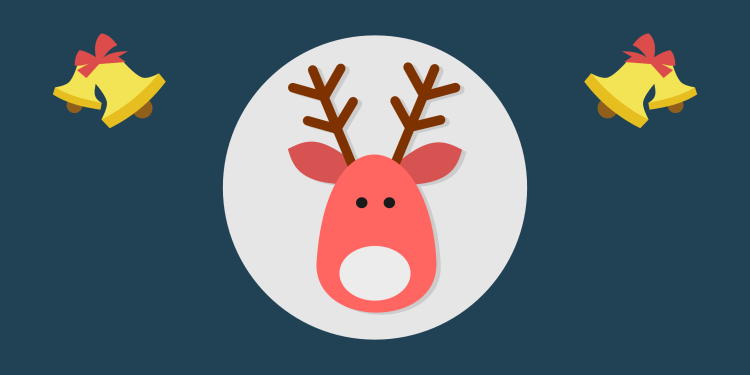 Reindeers always had an important role in Christmas. Even the pink ones...
